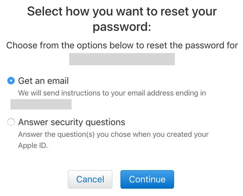 how to change icloud.com email password