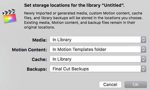 fcpx storage locations