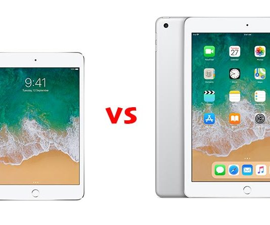 iPad mini 4 vs iPad 2018